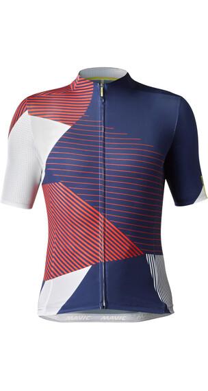 Mavic Allure Ltd Miehet Pyöräilypaita lyhythihainen , punainen/sininen